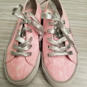 Other - NEW little girls pink wash sneakers